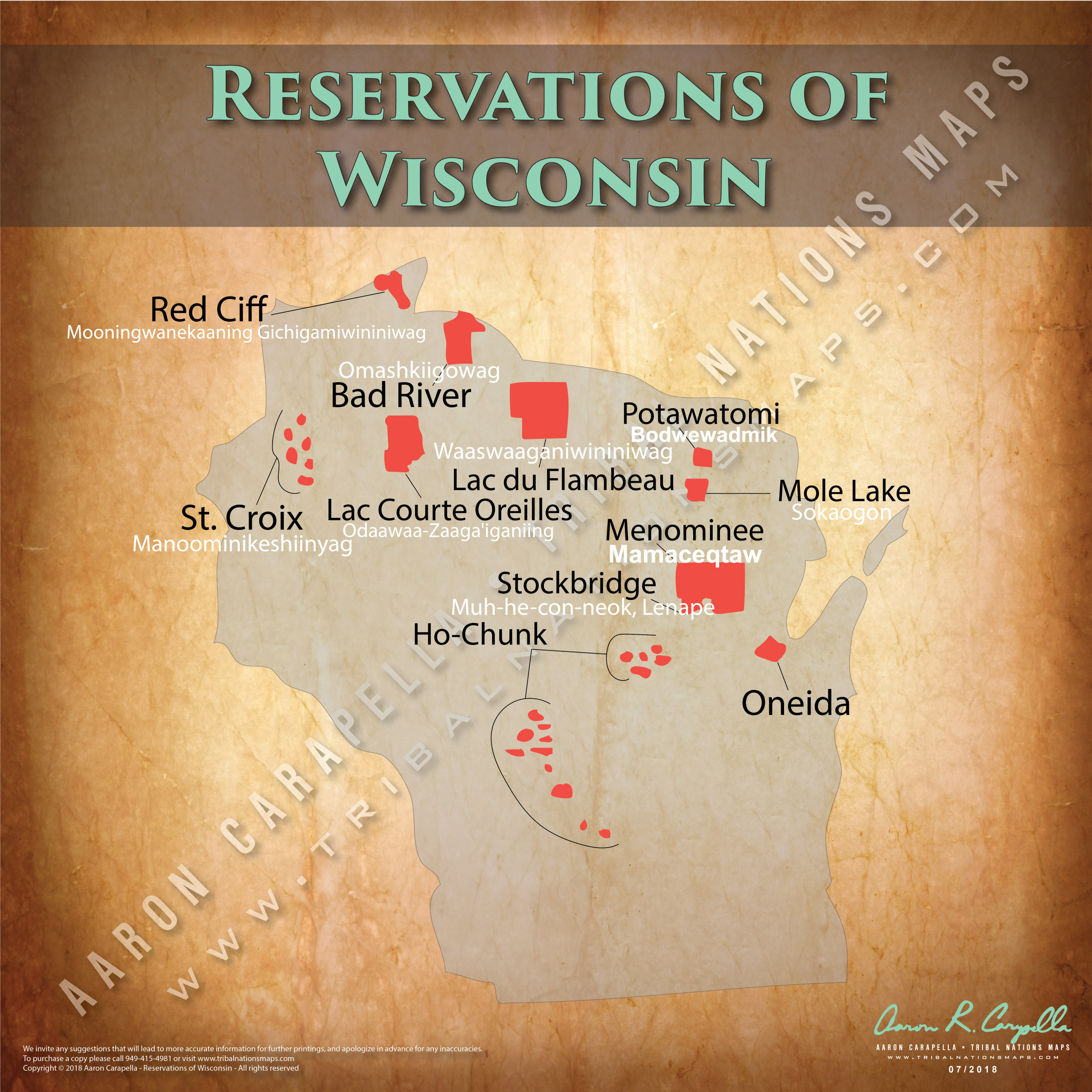 Reservations Of Wisconsin 22 X22