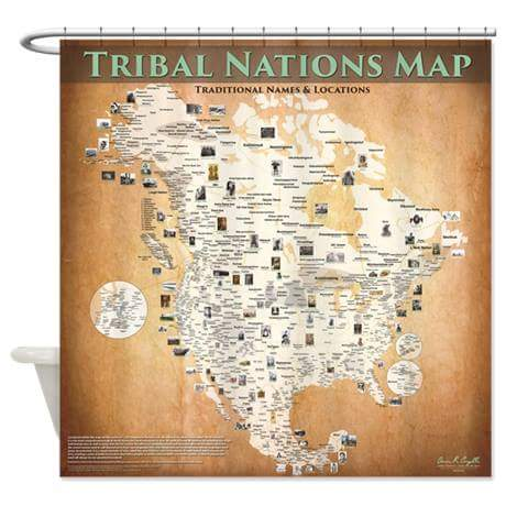 Tribal Nations Map Tribal Nations Map Shower Curtain 71